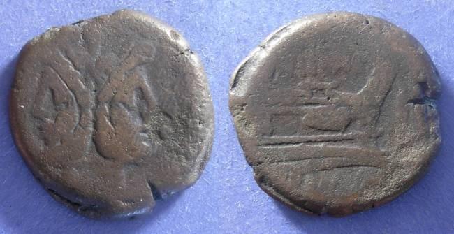 Ancient Coins - Roman Republic, M Titini 189-179 BC, Aes