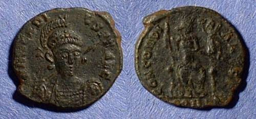Ancient Coins - Arcadius 383-408AD AE3 with facing bust