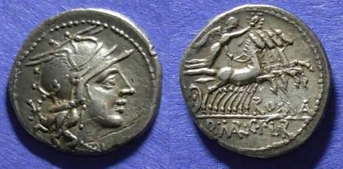 Ancient Coins - Roman Republic, Q Marcius C F L Roscius 118-117  BC, Denarius