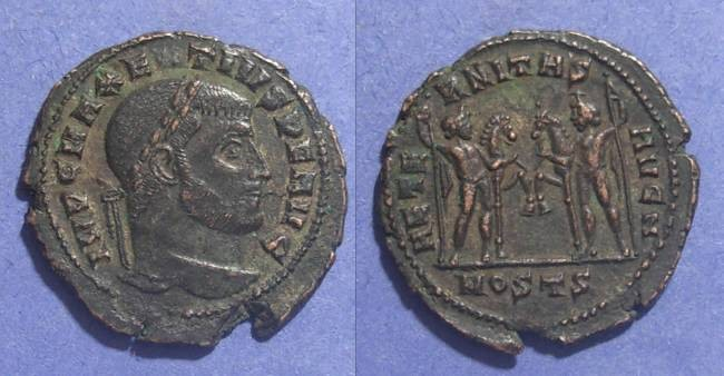 Ancient Coins - Roman Empire, Maxentius 306-312, Follis 27mm