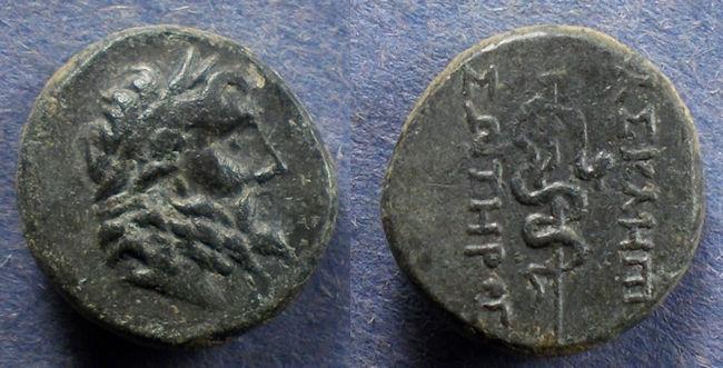 Ancient Coins - Mysia, Pergamon 200-133 BC, AE16