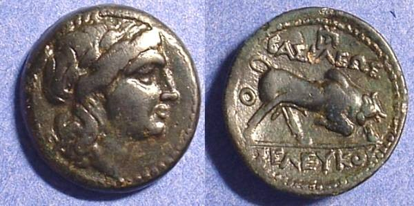 Ancient Coins - Seleucid Kingdom - Seleukos I 312-280 BC AE 19