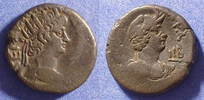 Ancient Coins - Roman Egypt - Nero 54-68AD Billon Tetradrachm