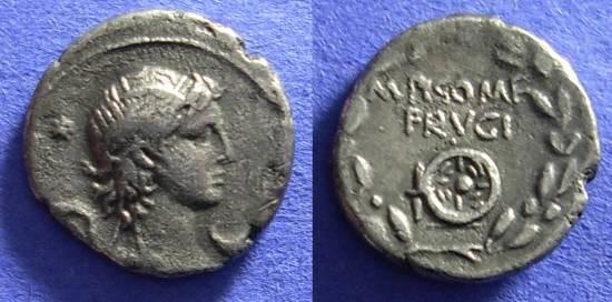 Ancient Coins - Roman Republic – Calpurnia 23 Denarius 61 BC