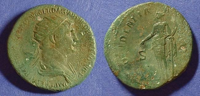 Ancient Coins - Trajan 98-117  Dupondius