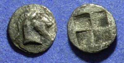 Ancient Coins - Thraco-Macedonian, Uncertain mint Circa 480 BC, Tetartemorion (?)