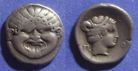 Ancient Coins - Neapolis, Macedonia Circa 450 BC, Hemidrachm