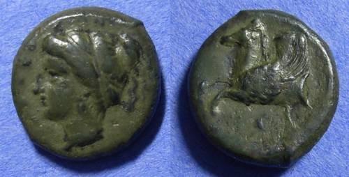 Ancient Coins - Syracuse Sicily - AE Hemilitra  344-336 BC