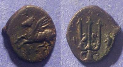 Ancient Coins - Corinth,  Circa 320 BC, AE12 x 14