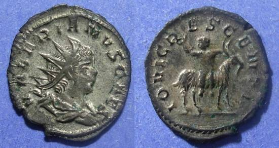 Ancient Coins - Roman Empire, Valerian II (Caesar) 253-255, Antoninianus