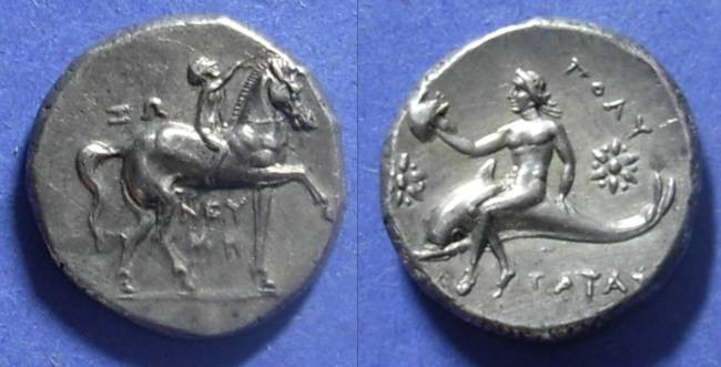 Ancient Coins - Taras, Calabria 280-272 BC, Nomos