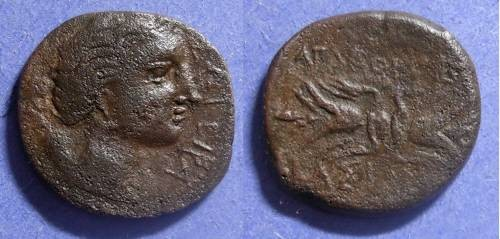 Ancient Coins - Syracuse Sicily, Agathocles 317-289 BC, AE23