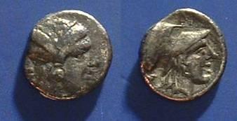 Ancient Coins - Lampsakos, Mysia - Trihemiobol Circa 390-330 BC