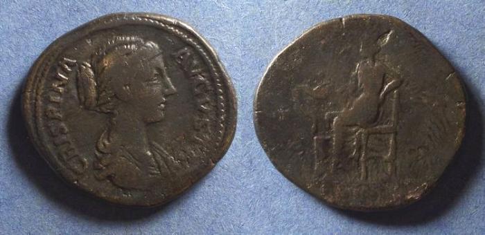 Ancient Coins - Roman Empire, Crispina d. 184, Sestertius
