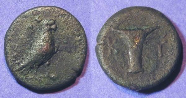 Ancient Coins - Kyme Aiolis - AE17 - 3rd Century BC