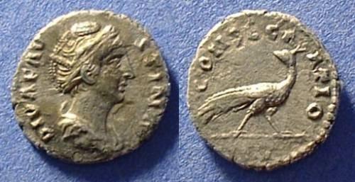 Ancient Coins - Faustina Sr (wife of A.Pius - d. 141) Postumous denarius