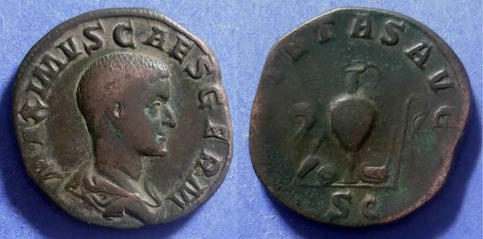 Ancient Coins - Roman Empire, Maximus (Caesar) 235-8, Sestertius