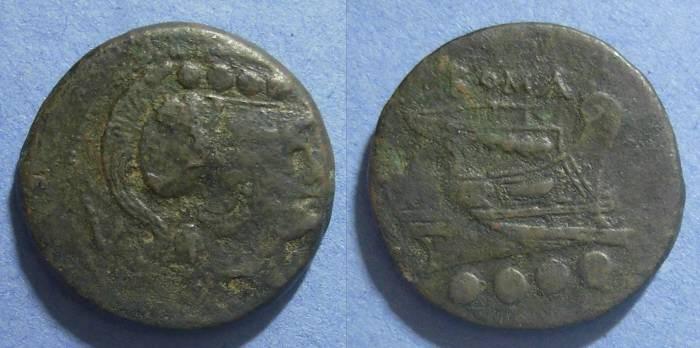 Ancient Coins - Roman Republic, Early struck 215-211 BC, Triens