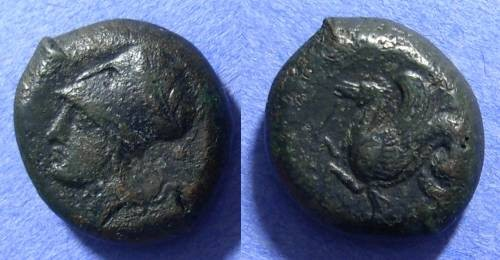 Ancient Coins - Syracuse Sicily AE Litra Circa 409 BC
