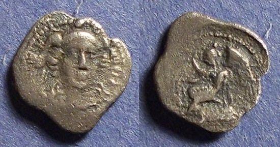 Ancient Coins - Sicily, Morgantina 344-317 BC, Litra