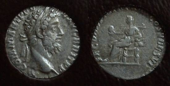 Ancient Coins - Commodus 177-192 AD Denarius Slabbed - ICG VF35