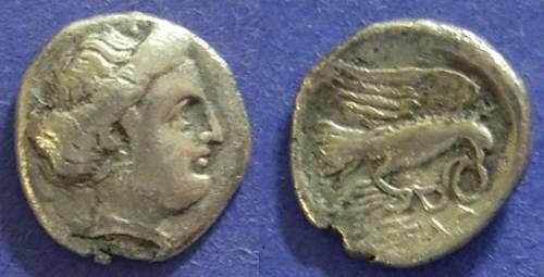 Ancient Coins - Chalkis, Euboea 350-294 BC, Drachm