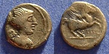Ancient Coins - Republic Quinarius  Titia 3 - 90 BC
