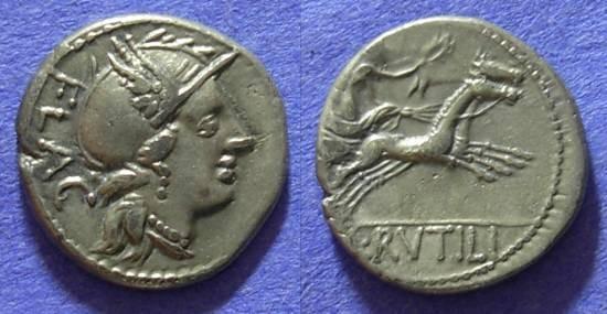 Ancient Coins - Roman Republic - L Rutilius Flaccus - Denarius 77 BC