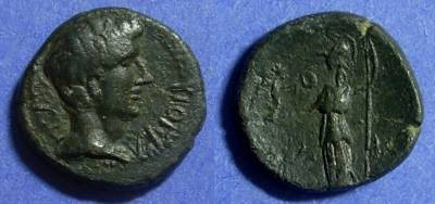 Ancient Coins - Side Pamphylia, Tiberius 14-37 AD, AE 16