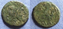 Ancient Coins - Roman Republic, Anonymous Circa 91 BC, Semis