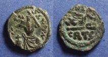 Ancient Coins - Byzantine Empire, Constans II 641-668, Half Follis