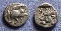 Ancient Coins - Mysia, Kyzikus 450-400 BC, Hemiobol