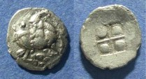 Ancient Coins - Thraco-Macedonian, Mygdones or Krestones 485-470 BC, Diobol