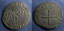 World Coins - France, Charles VI 1380-1442, Blanc Guenar