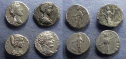 Ancient Coins - Roman Empire, Pius to Caracalla 138-217, Group of four Denarii