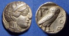 Ancient Coins - Athens,  454-404 BC, Silver Tetradrachm