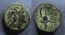 Ancient Coins - Seleucid Kingdom, Tryphon 142-138 BC, AE16