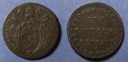 World Coins - Papal States, Pius VI 1795, 2 Baiocchi