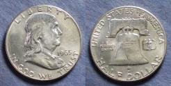 Us Coins - United States,  1963, Franklin Half Dollar, MS62