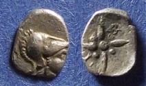 Ancient Coins - Asia Minor, Uncertain city Circa 350 BC, Hemiobol