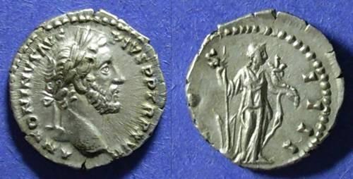 Ancient Coins - Roman Empire, Antoninus Pius 161-180, Denarius