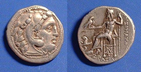 Ancient Coins - Lysimachos - King of Thrace 323-281 BC - Drachm