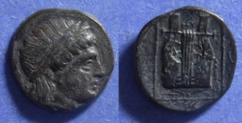Ancient Coins - Mytilene, Lesbos 350-250 BC, AE14