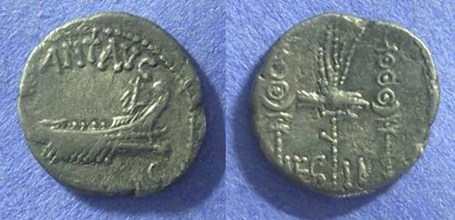 Ancient Coins - Marc Antony Legion II Denarius. 32-31 BC.