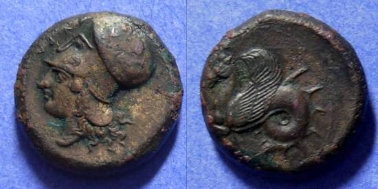 Ancient Coins - Syracuse Sicily AE Hemilitron Circa 409 BC