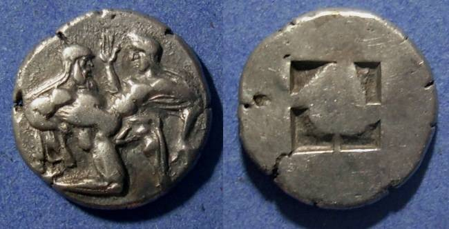 Ancient Coins - Thasos, Islands off Thrace 480-463 BC, Stater