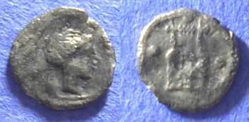 Ancient Coins - Katane Sicily - Tetras - 415 - 400 BC
