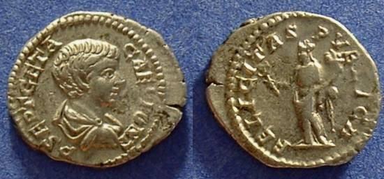 Ancient Coins - Geta (as Caesar) 198-208 Denarius