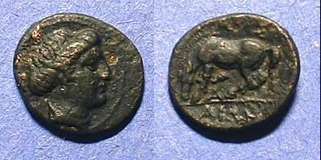 Ancient Coins - Larissa Thessaly AE14 Circa 350 BC