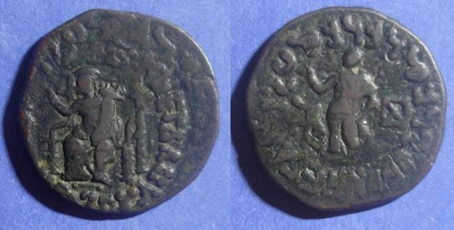 Ancient Coins - Indo Skythian Kingdom, Azes 59-12 BC, AE Unit